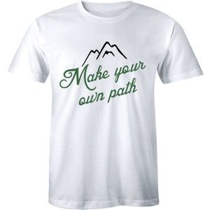 Make Your Own Path Climbing Mountain Men's T-shirt